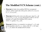 the modified ycn scheme cont2
