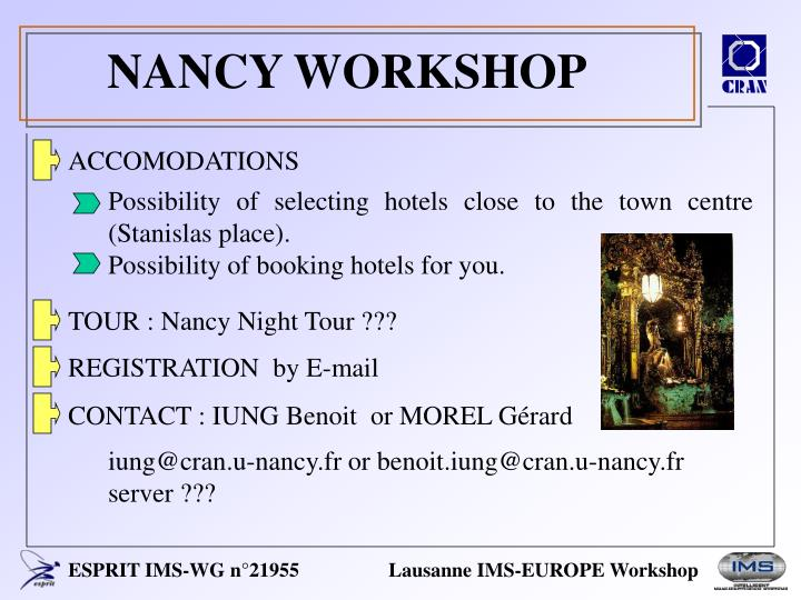 NANCY WORKSHOP