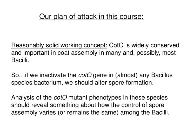 Our plan of attack in this course: