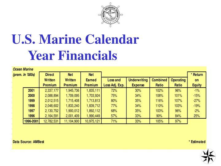 U.S. Marine Calendar