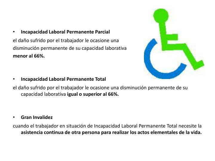 Incapacidad Laboral Permanente Parcial
