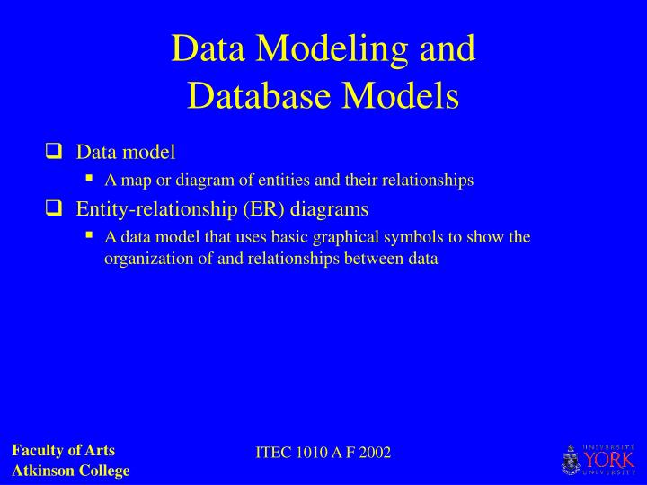 Data Modeling and
