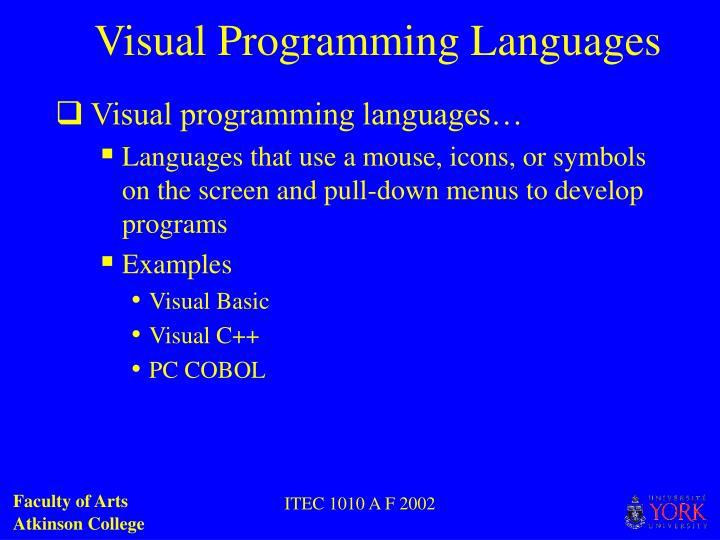 Visual Programming Languages