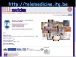 http telemedicine itg be