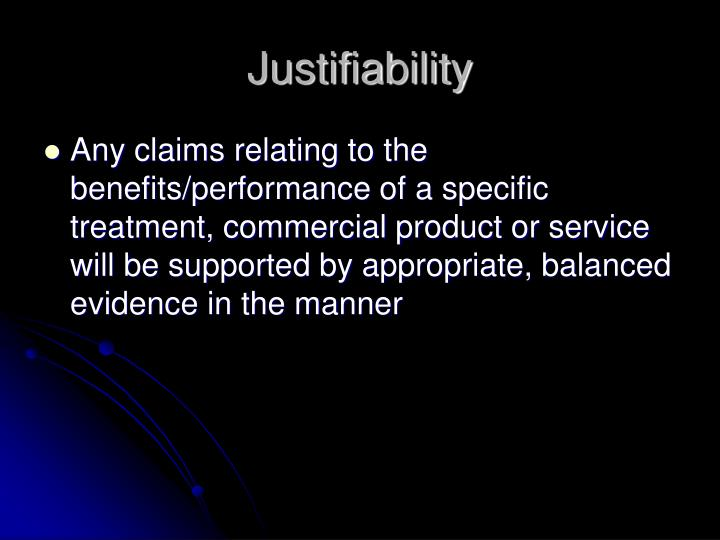 Justifiability