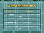 comprehensive measures