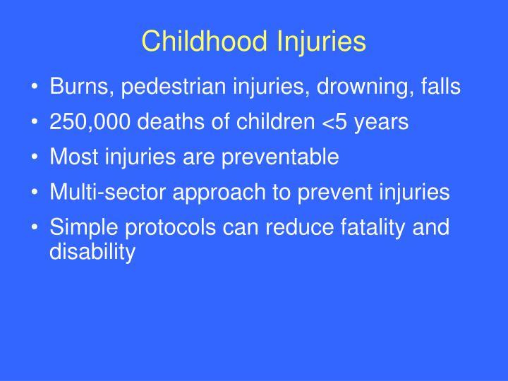 Childhood Injuries