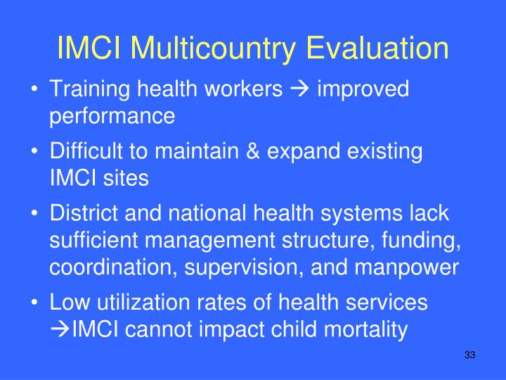 IMCI Multicountry Evaluation