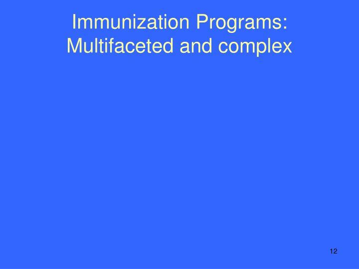 Immunization Programs: