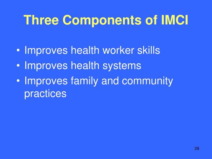 Three Components of IMCI