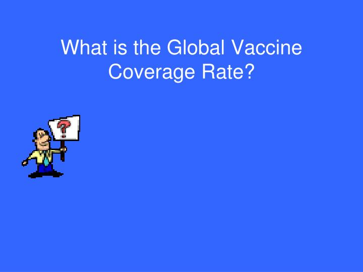 What is the Global Vaccine Coverage Rate?