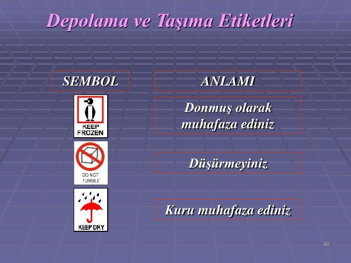 Depolama ve Tama Etiketleri