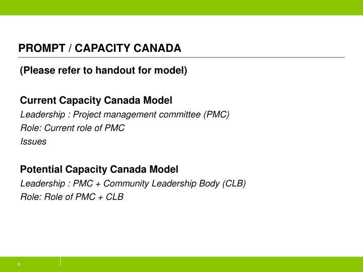 PROMPT / CAPACITY CANADA