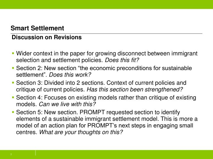 Smart Settlement