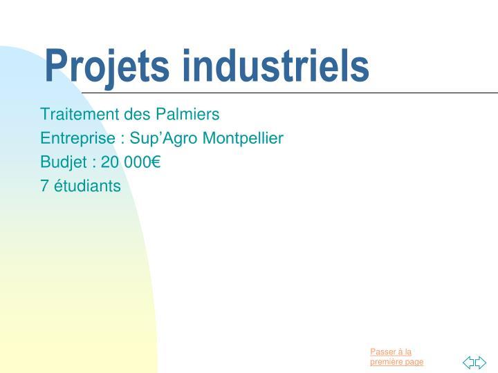 Projets industriels