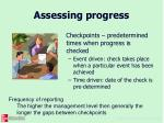 assessing progress