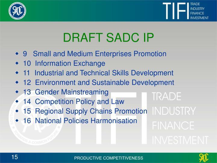 DRAFT SADC IP