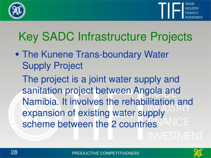 Key SADC Infrastructure Projects