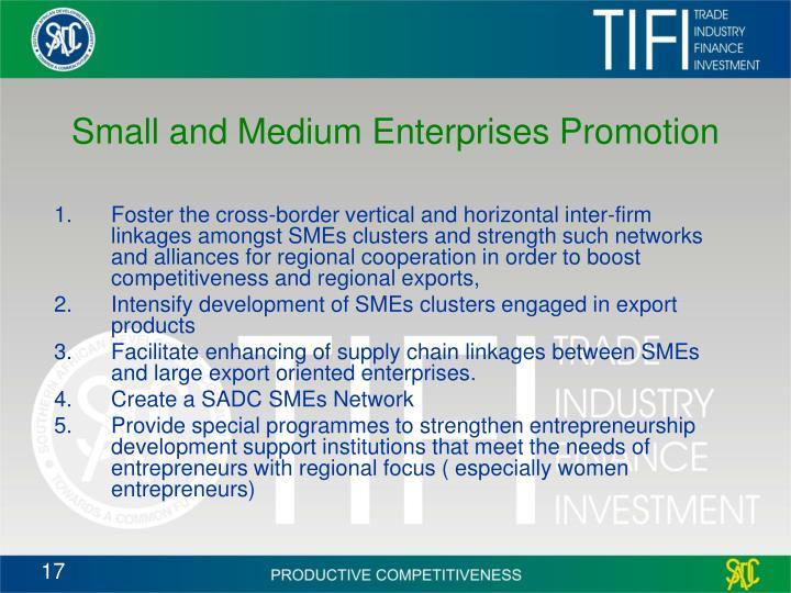 Small and Medium Enterprises Promotion