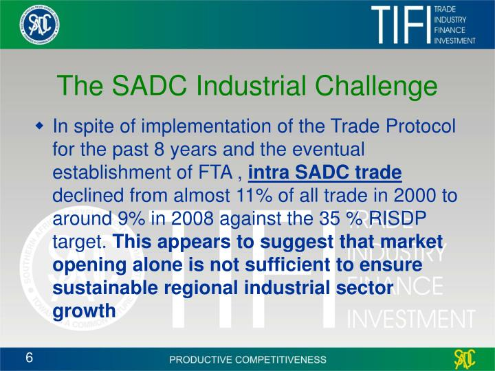 The SADC Industrial Challenge