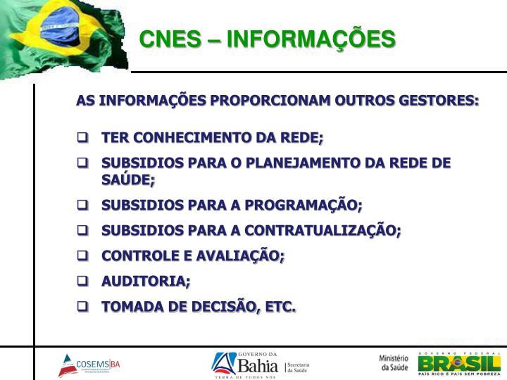 CNES – INFORMAÇÕES
