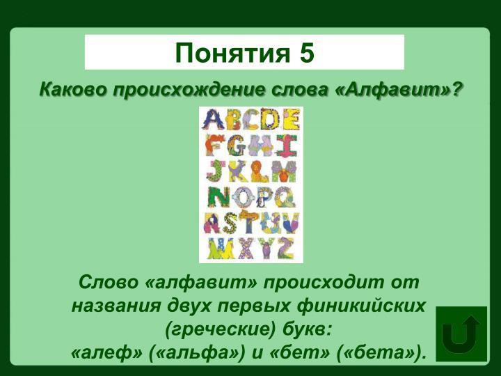 Понятия 5
