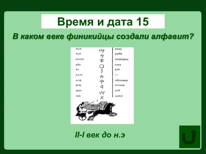 Время и дата 15