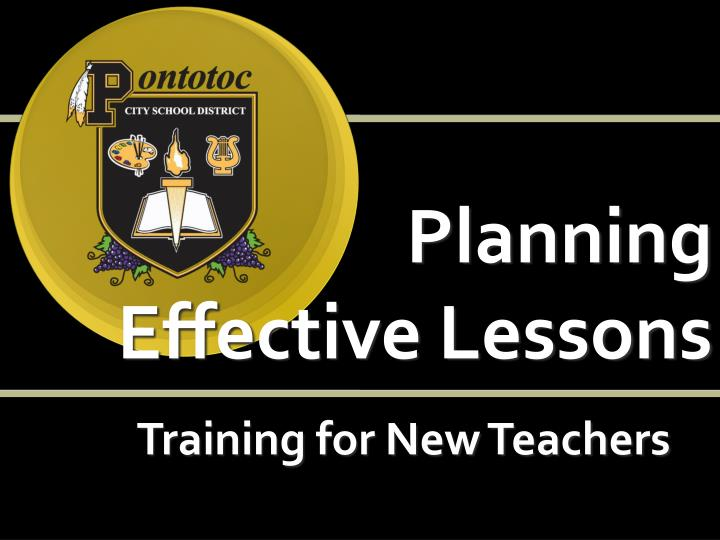 Planning effective lessons training for new teachers