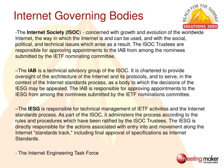 Internet Governing Bodies
