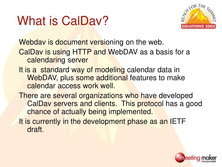 What is CalDav?