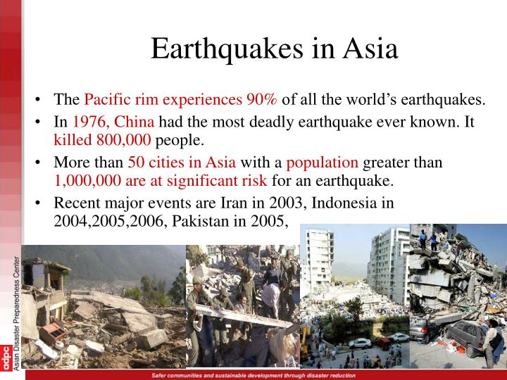 Earthquakes in Asia