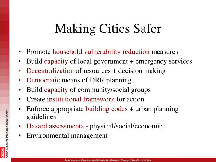 Making Cities Safer