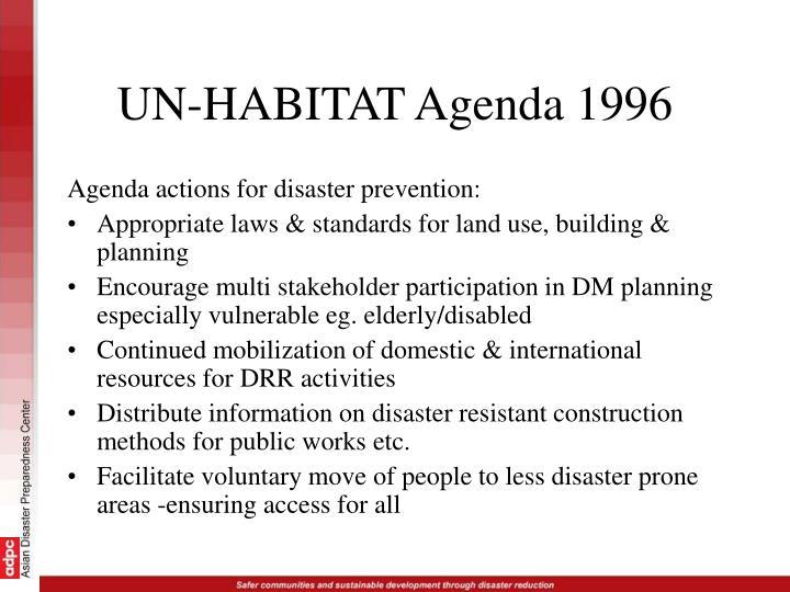 UN-HABITAT Agenda 1996