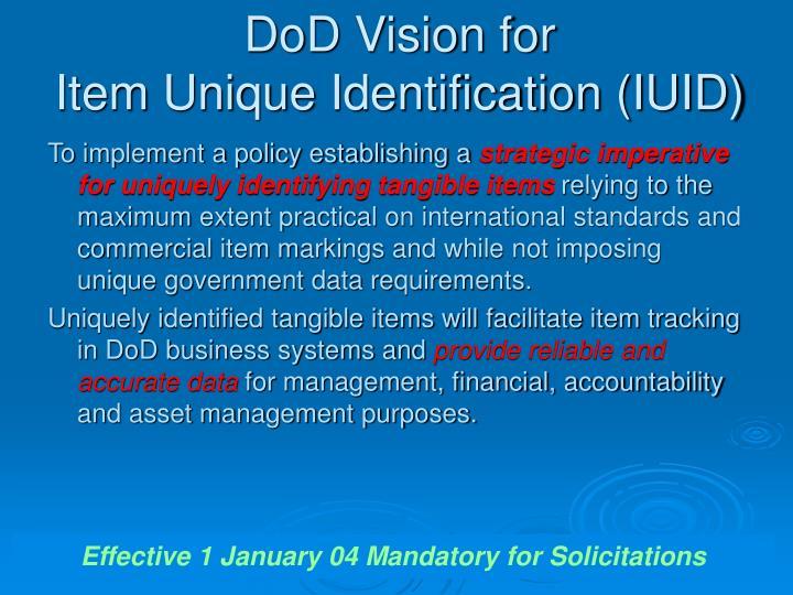 DoD Vision for