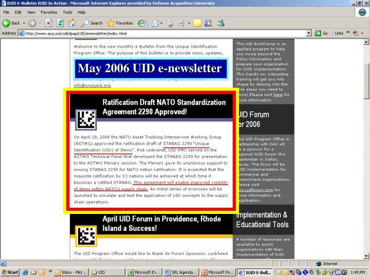 May 2006 UID e-newsletter
