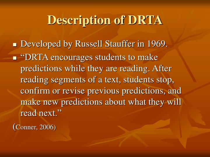 Description of DRTA