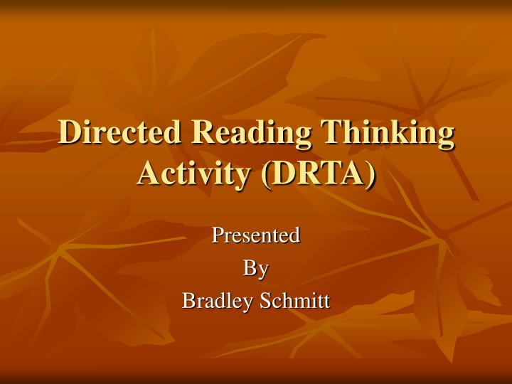Directed reading thinking activity drta