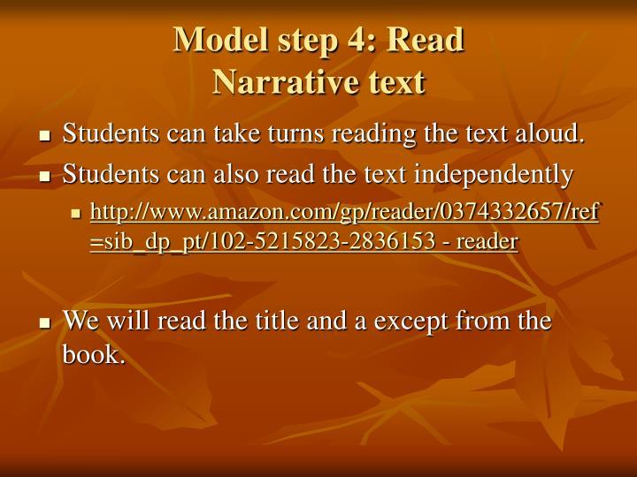 Model step 4: Read