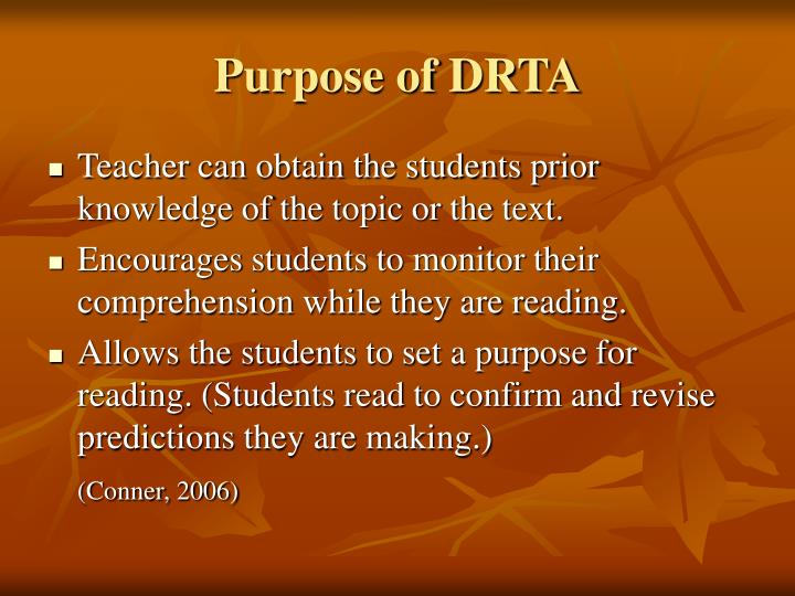 Purpose of DRTA