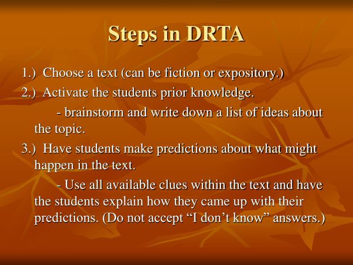 Steps in DRTA