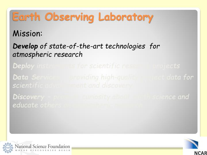 Earth observing laboratory