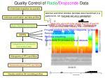 quality control of radio dropsonde data