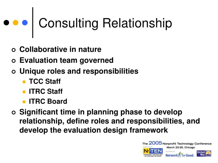 Consulting Relationship