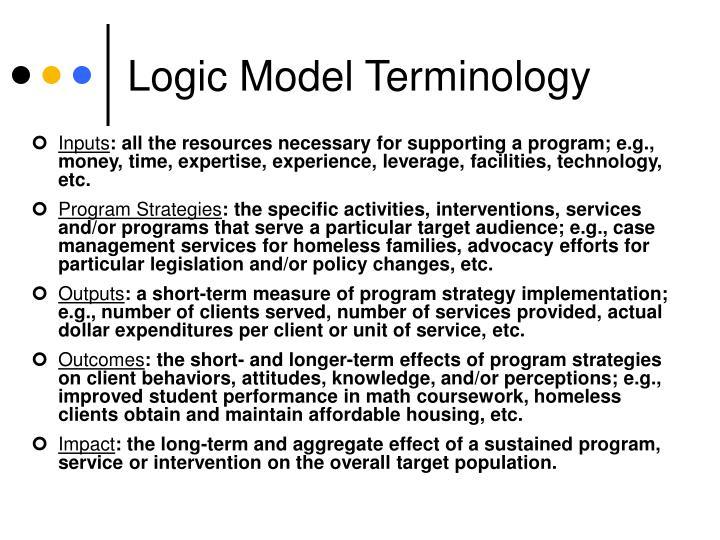 Logic Model Terminology