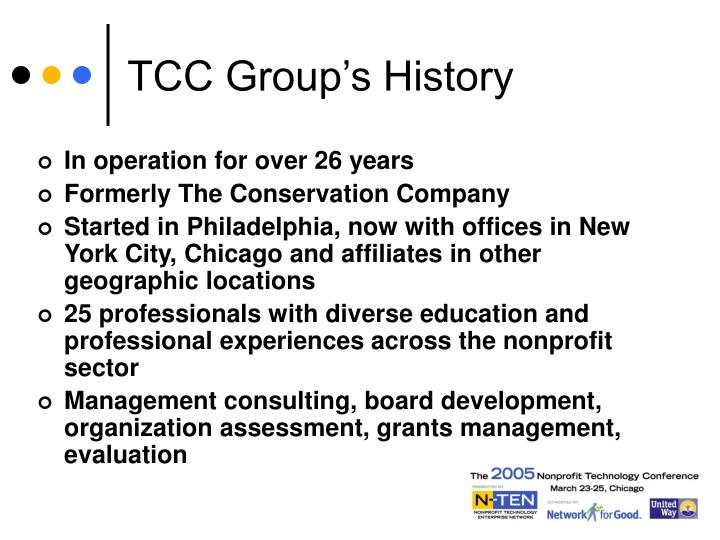 TCC Group's History