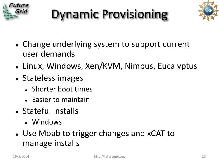Dynamic Provisioning