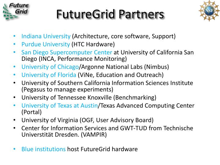 FutureGrid Partners
