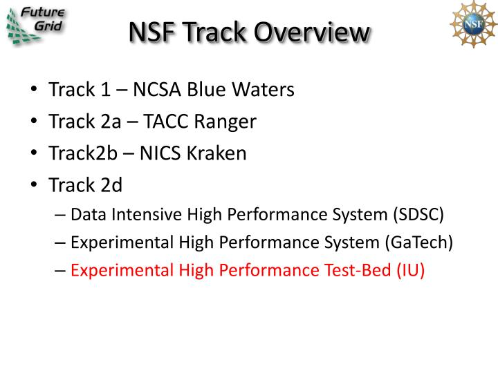 NSF Track Overview