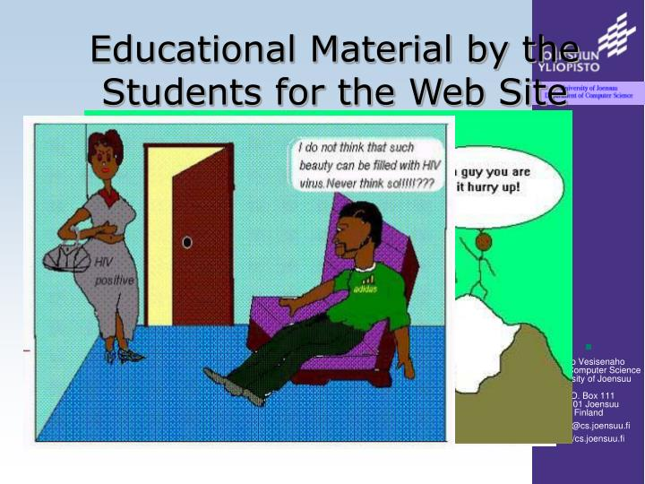 Educational Material by the Students for the Web Site