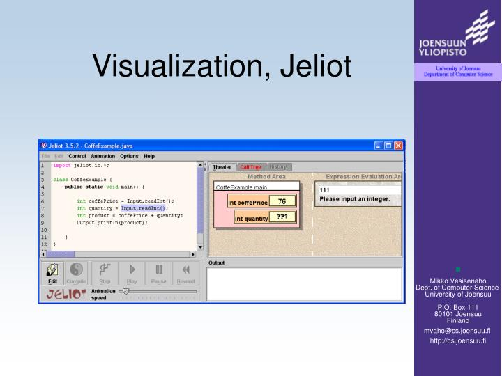 Visualization, Jeliot